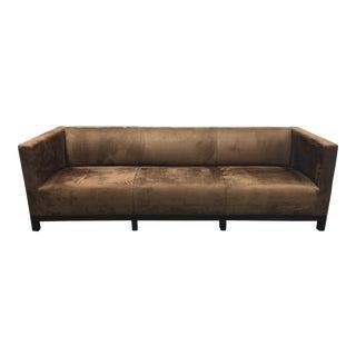 Custom DeSousa Hughes Suede Tuxedo Sofa