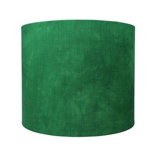 Emerald Green Linen Designer Lamp Shade