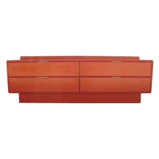 Stanley Red Mid-Century Dresser