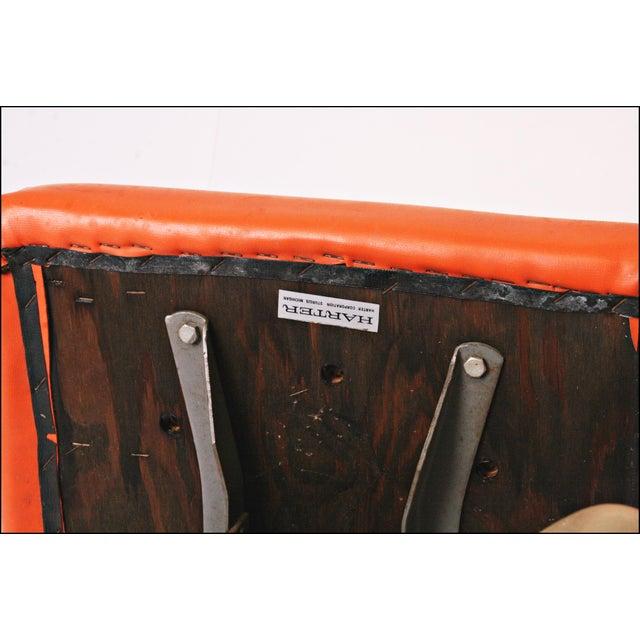 Image of Vintage Orange Industrial Steel Office Chair