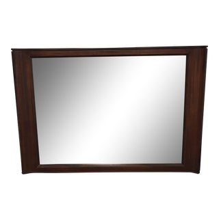 Brownstone Horizontal Wood Framed Wall Mirror