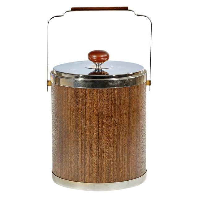 Image of Mid Century Modern Wood Ice Bucket