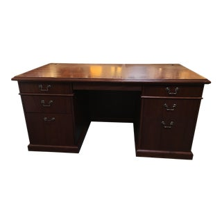 Burled Wood Executive Desk