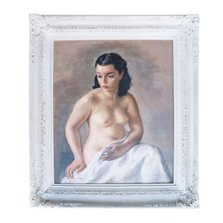 Semi Nude Portrait Oil Painting by Robert Philipp
