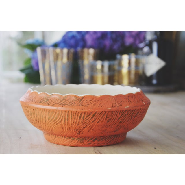 Image of Golden Decorative McCoy Bowl