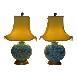 Vally Wieselthier Potttery Table Lamps Wiener Werkstatte
