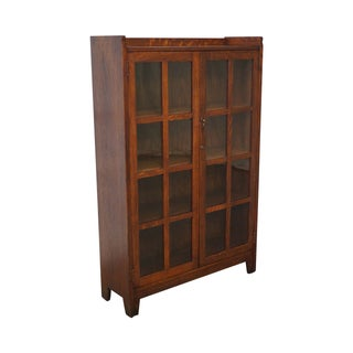 Stickley Bros Antique Mission Oak Bookcase