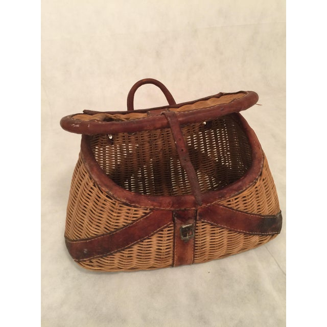 Antique Woven Creel Basket - Image 6 of 7