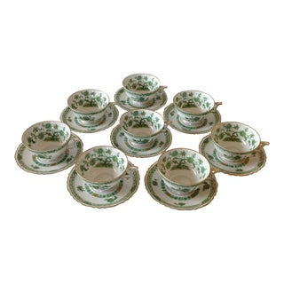 French Limoges Teacups and Saucers - Set of 8