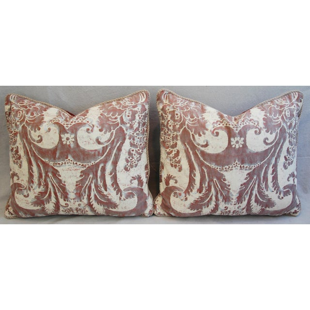 Mariano Fortuny Glicine & Mohair Pillows - A Pair - Image 6 of 10