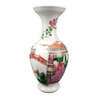 Antique Chinese Famille Vert Porcelain Vase