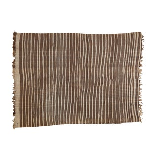 "Vintage Striped Moroccan Kilim Rug - 4'8"" x 6'3"""