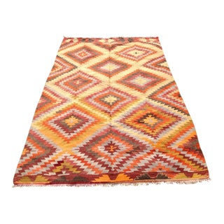 Vintage Turkish Kilim Rug - 5′2″ × 8′1″
