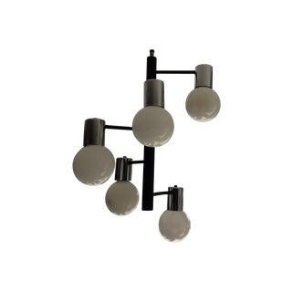 Black & Chrome Spiral Globe Chandelier