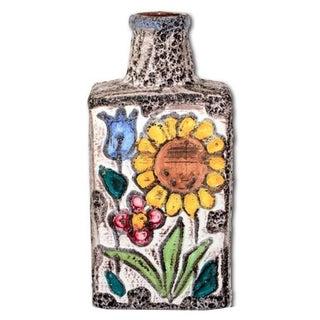 Vintage Fat Lava Floral Vase