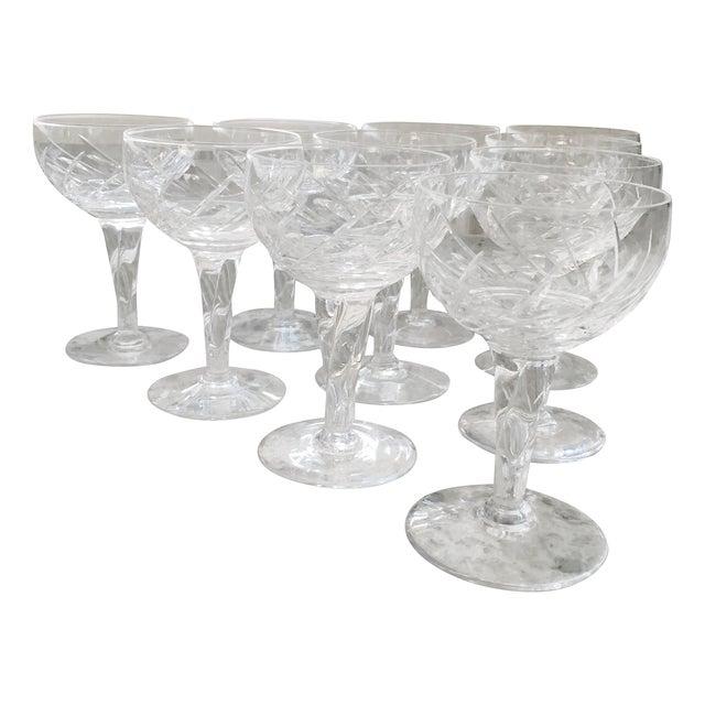 Vintage Crystal Dessert Wine Glasses - Set of Ten - Image 1 of 6