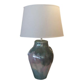 Iridescent Green & Pink Table Lamp