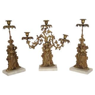 American Candelabra Garnitures - Set of 3