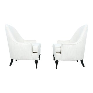 Hollywood Regency Highback Chairs - Pair
