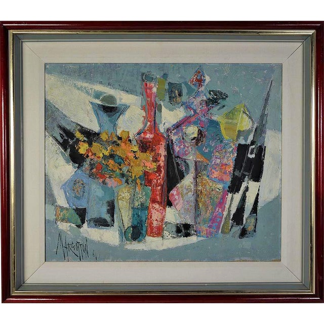 Image of Rene Margotton Mid-Century Expressionist French Oil Painting