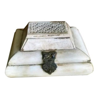 Antique Ivory Trinket Box