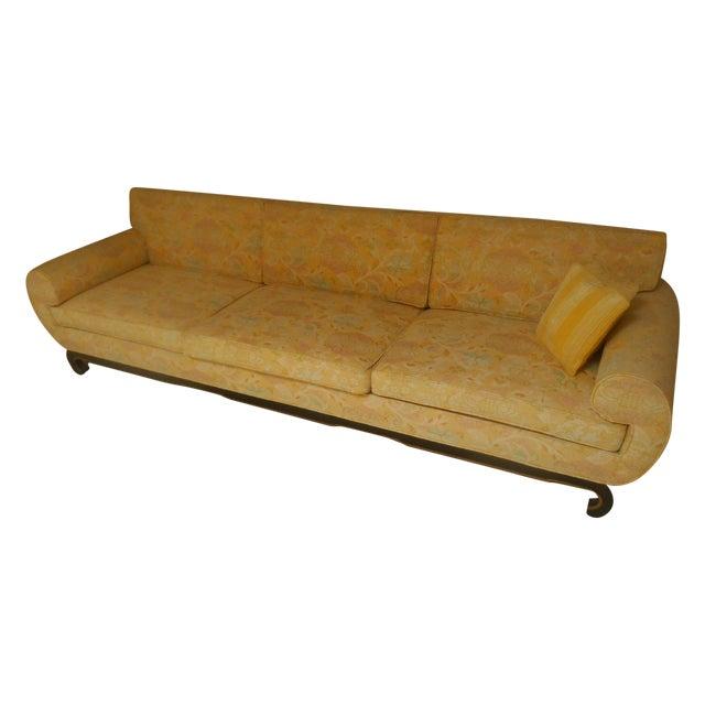 Mid century oriental style sofa chairish for Oriental style sofas