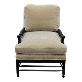 Transitional Mohair Side Chair