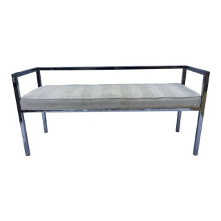 Swaim Designs Vintage Chrome Bench