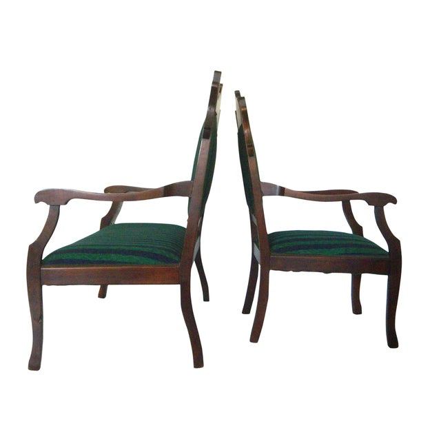 Mahogany bench settee matching arm chair chairish for Matching arm chairs