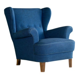 1950s Fritz Hansen Attributed Danish Modern Armchair
