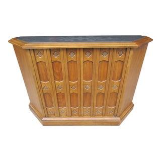 Drexel Esperanto Petite Slate Top Credenza or Hall Cabinet