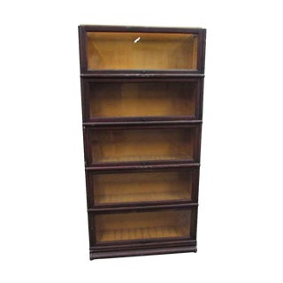 Five Shelf Barrister Bookcase