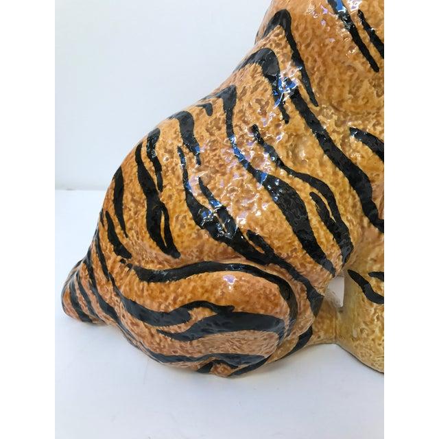 Hand Painted Italian Ceramic Tiger - Image 6 of 9