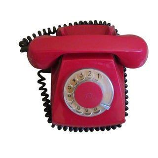 1970s Vintage Soviet Star USSR Rotary Telephone