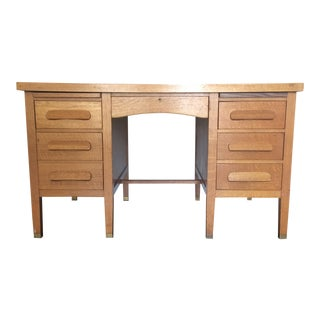 McLeod Vintage Quarter Sawn Oak Desk