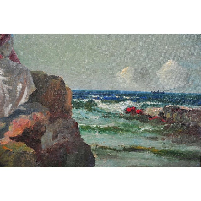 """Woman Looking at Sea,"" Painting by A. Neogrady - Image 4 of 9"