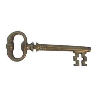 1950s Italian Brass Key With Hidden Corkscrew