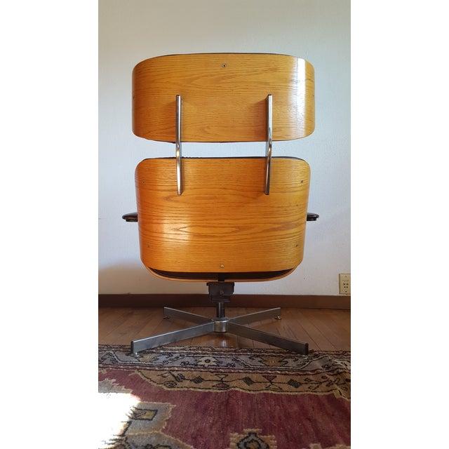 Vintage Herman Miller Eames Era Style Chocolate Selig Plycraft Lounge Chair - Image 6 of 11