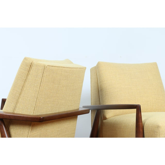 Mid-Century Ecru Lounge Chairs - A Pair - Image 9 of 11