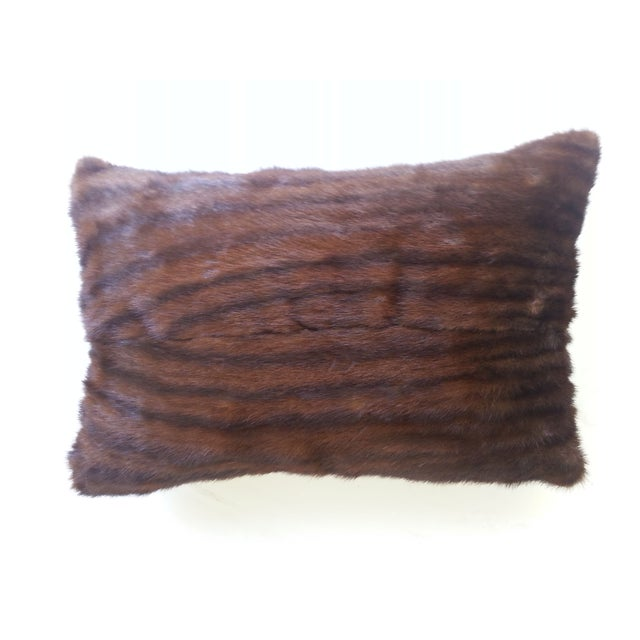 Brown Mink Lumbar Pillow - Image 1 of 2