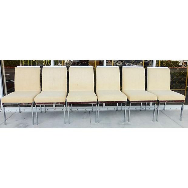 Image of DIA White and Chrome Dining Chairs - 6