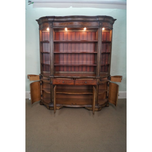 Hooker Serpentine Hutch-Style Credenza - Image 3 of 9