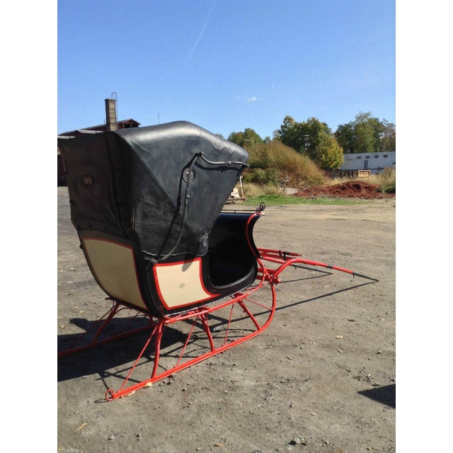 Antique Doctor Sleigh Covered Christmas Sled - Image 2 of 7