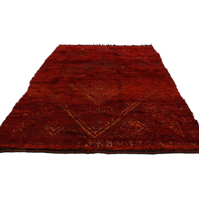 Vintage Berber Red Moroccan Rug 6 x 9 - Image 2 of 4
