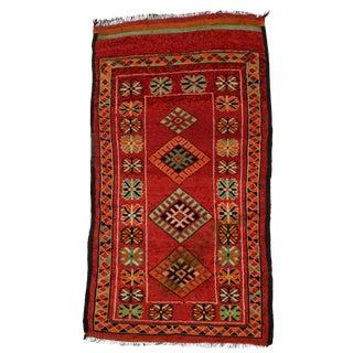 "Vintage Red Berber Moroccan Rug - 3'10"" x 6'6"""