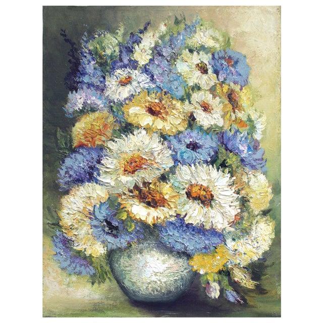 Chrysanthemum Summer Boquet Painting - Image 1 of 3