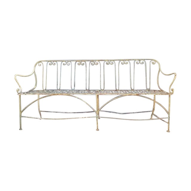 Image of French Iron Garden Bench
