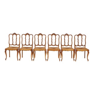Vintage Louis XV Style Dining Chairs - Set of 6