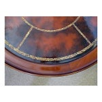 Image of Two-Tiered Round Mahogany & Leather Coffee Table