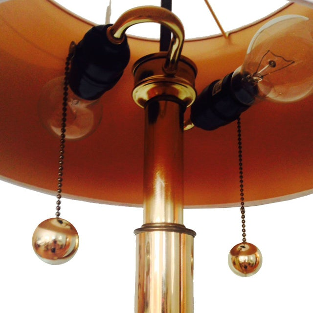 Image of Vintage Kovacks Monumental Brass Floor Lamp
